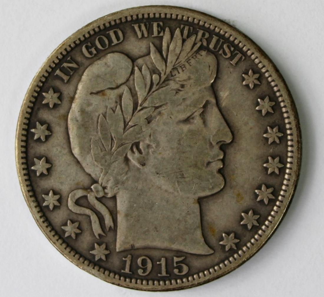 1915-D BARBER HALF DOLLAR