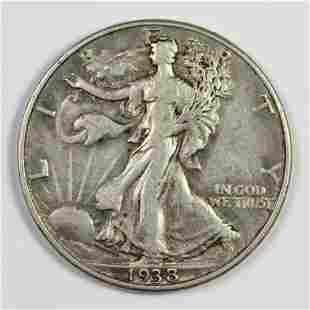 1938D WALKING LIBERTY HALF DOLLAR