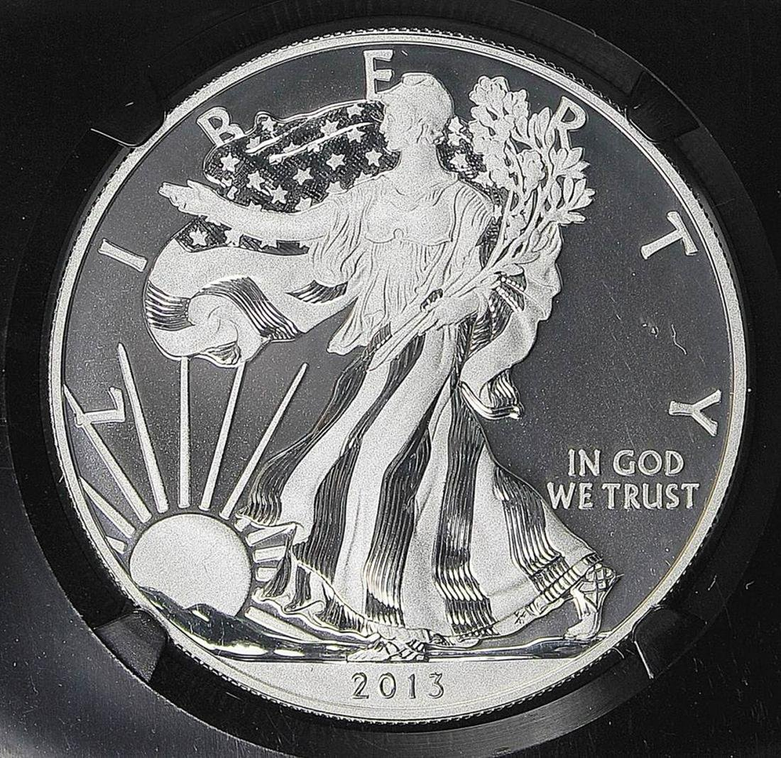 2013 TWO PC SET AMERICAN SILVER EAGLE