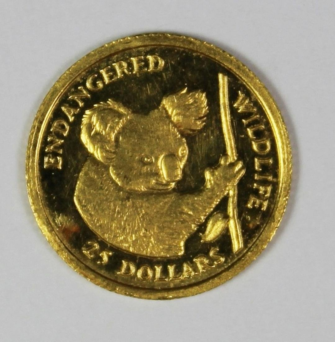 1991 COOKS ISLAND AND 1/25 OZ GOLD