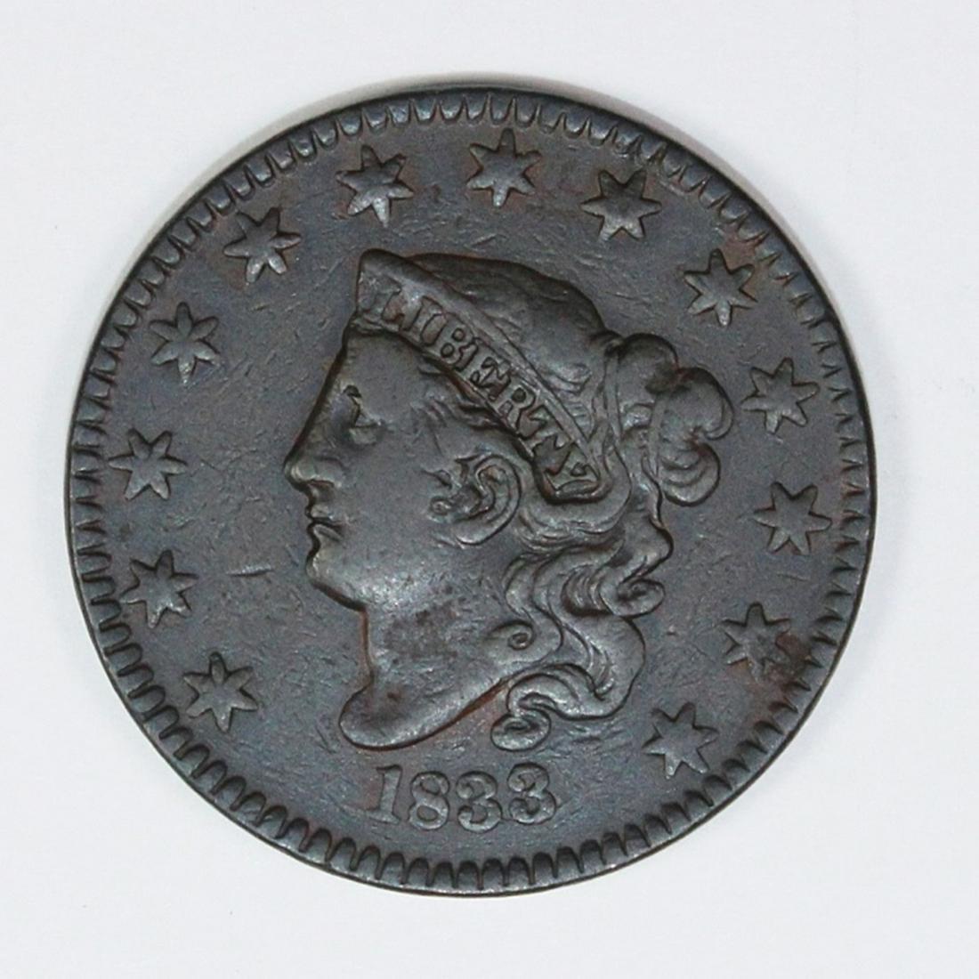 1833 LARGE CENT