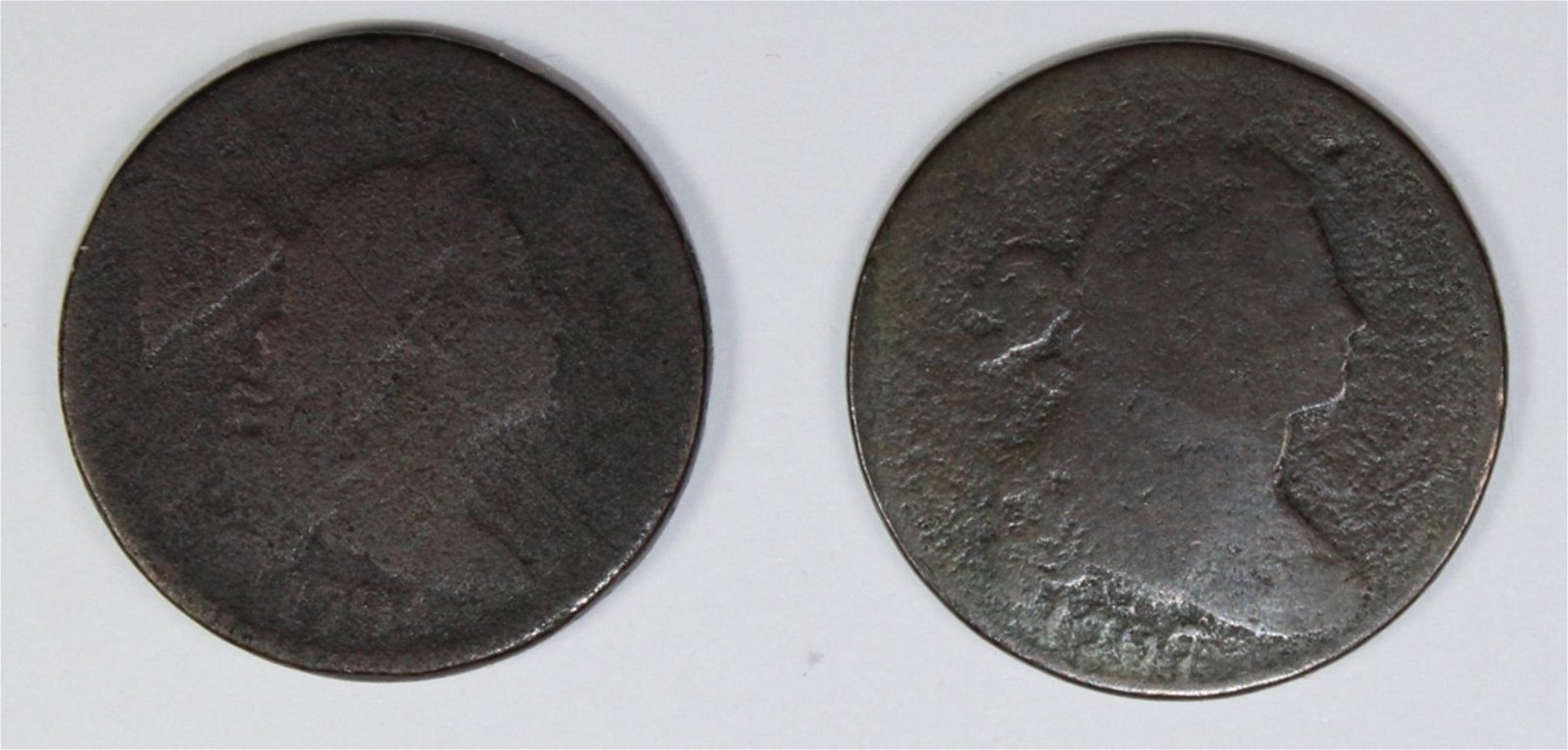 2 EARLY LARGE CENTS 1794 AND 1797