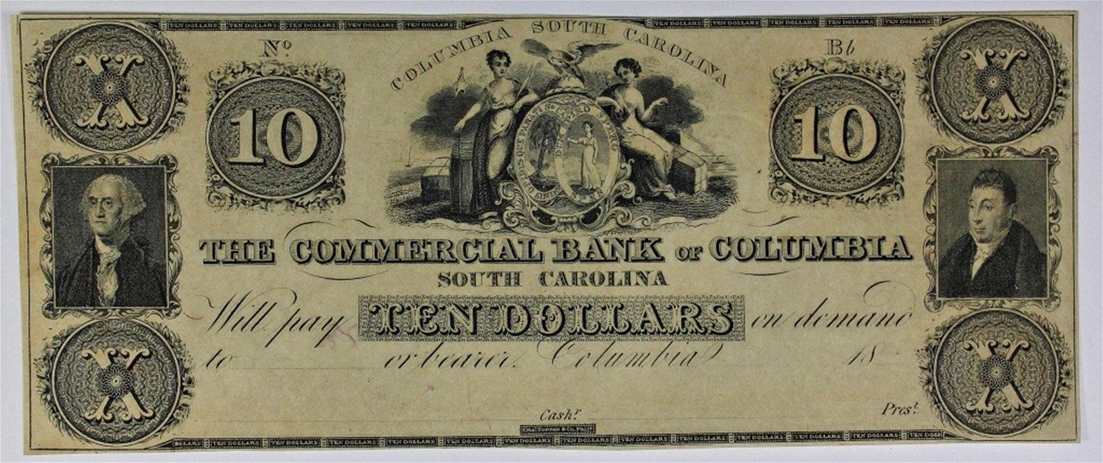 1850'S SOUTH CAROLINA $10