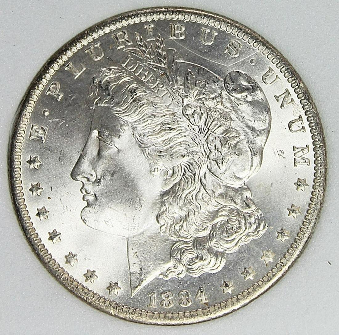 1884-O MORGAN SILVER DOLLAR