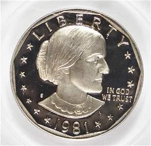 1981-S SUSAN B ANTHONY DOLLAR