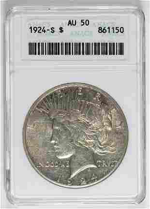 1924-S PEACE SILVER DOLLAR