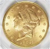 1904-S $20 LIBERTY GOLD