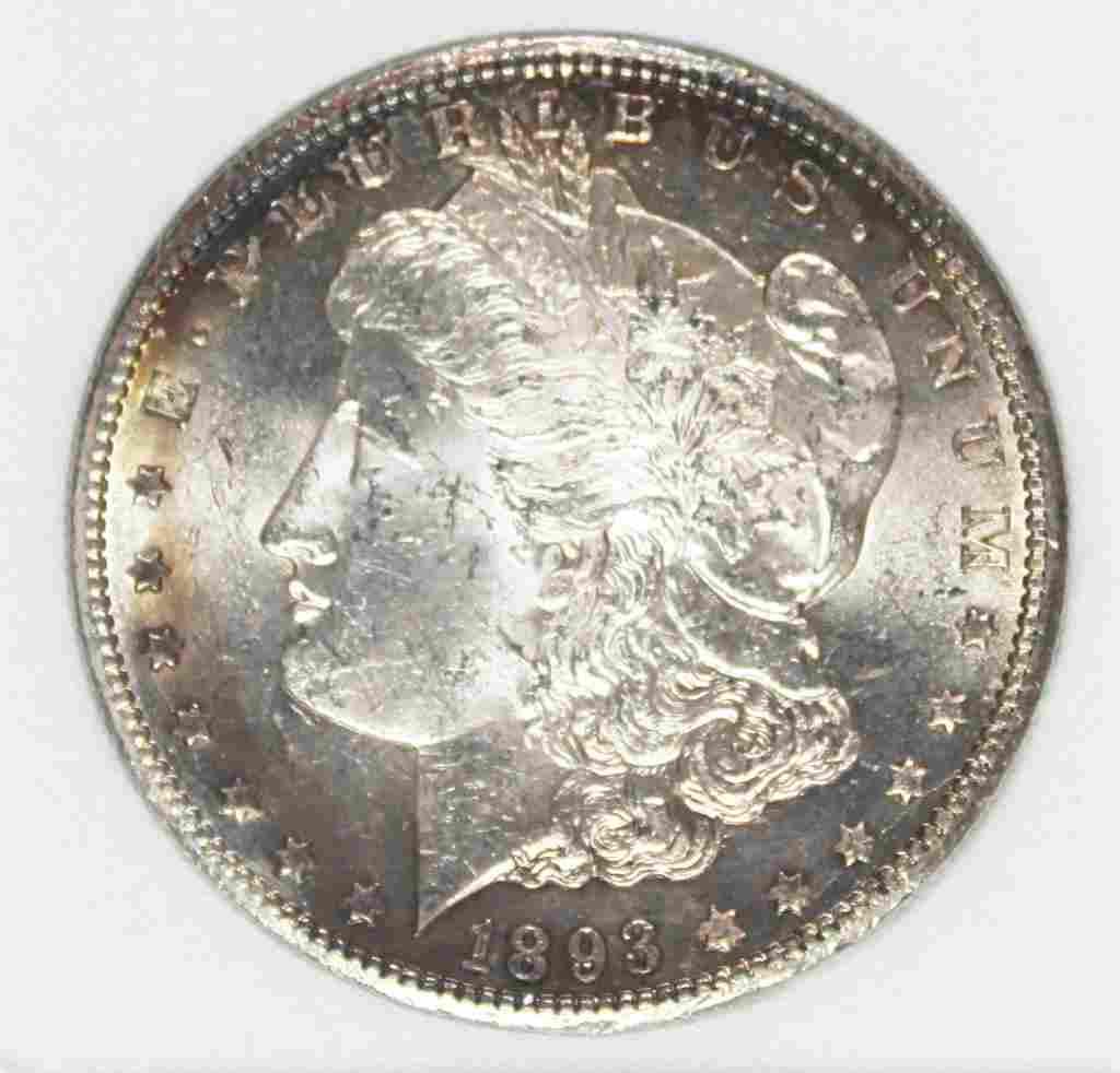 1893-CC MORGAN SILVER DOLLAR