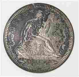 1854-O SEATED QUARTER