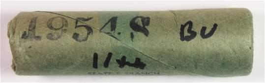 1954-S ROOSEVELT DIME ROLL