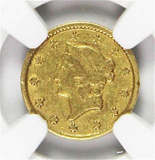 1852-C $1.00 GOLD