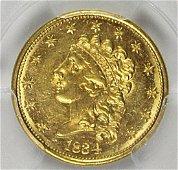1834 $2.50 CLASSIC HEAD GOLD