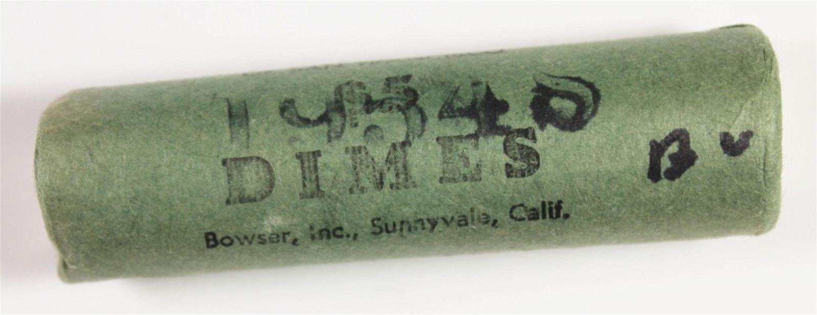 1954-S $10 ROOSEVELT DIME ROLL