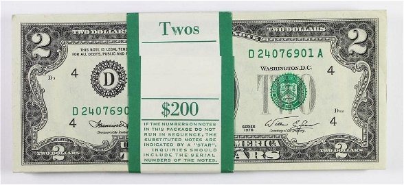 1976 $2.00 FEDERAL RESERVE NOTES