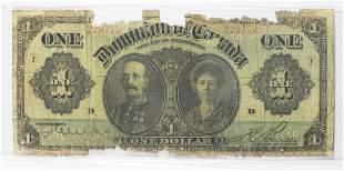 1911 $1.00 DOMINION OF CANADA
