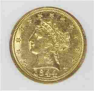 1844-D $2.50 GOLD