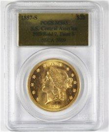 1857-S $20 LIBERTY GOLD