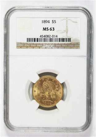 1894 $5.00 LIBERTY GOLD