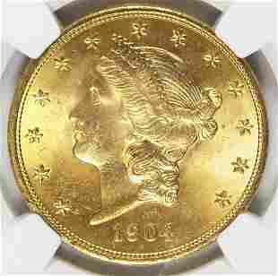 1904 $20 LIBERTY GOLD