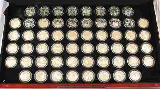 (56) COIN SET PROOF SILVER STATE QUARTERS