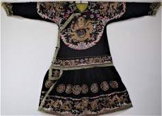 Chinese Imperial Silk Embroidered Dragon Robe