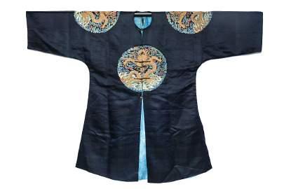 Silk Embroidered Dragon Robe