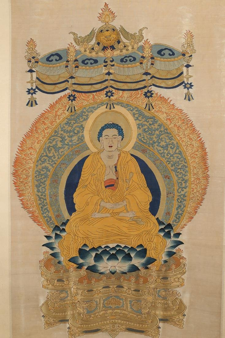 KESI Silk Panel Of Sakyamuni TangKa