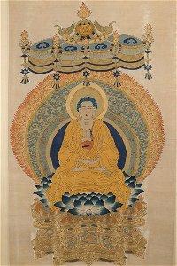 KESI Silk Panel Of Sakyamuni TangKa