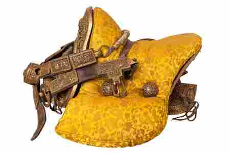 A Gilt Iron Horse Saddle