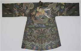 Rare Ming Yongle Embroidered Silk Dragon Robe