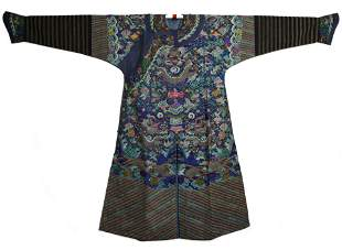 Qing Dyn. Kesi Silk Dragon Robe, Daoguang