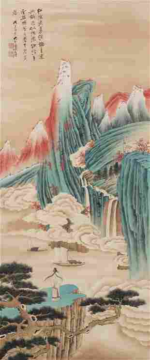 Chinese Painting With ZhangDaQian Mark