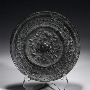 Chinese Beast Mask Bronze Mirror