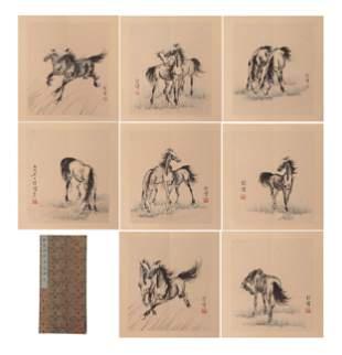 CHINESE PAINTING ALBUM OF HORSES