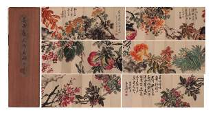 CHINESE PAINTING ALBUM OF FLOWERS