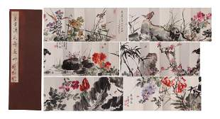 A CHINESE PAINTING ALBUM OF FLOWERS