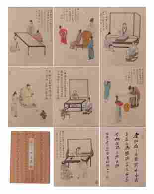 A CHINESE PAINTING ALBUM OF FIGURES