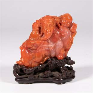 FINELY CARVED NANHONG AGATE ORNAMENT
