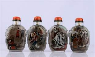 FOUR FAMOUS CRYSTAL SNUFF BOTTLES (A SET OF FOUR)