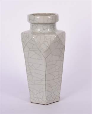 Ge-Type Celadon Crackle-Glazed Vase, Yongzheng Mark