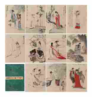 A CHINESE PAINTING ALBUM SIGNED LIU DANZHAI