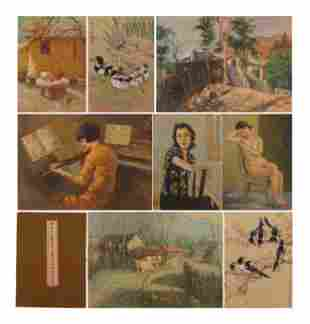 A OIL PAINTING ALBUM SIGNED XU BEIHONG