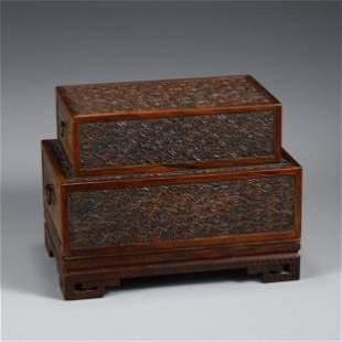 A FINELY CARVED HUANGHUALI BOX