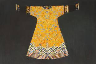 A CHINESE PAINTING OF IMPERIAL DRAGON ROBE
