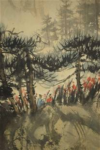 A CHINESE PAINTING OF PINES