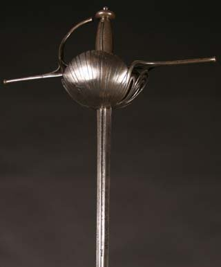3: A Spanish 17th Century Cup Hilt Rapier with scallop