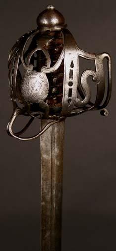 11: An 18th Century Scottish Broadsword.  The ornate pi