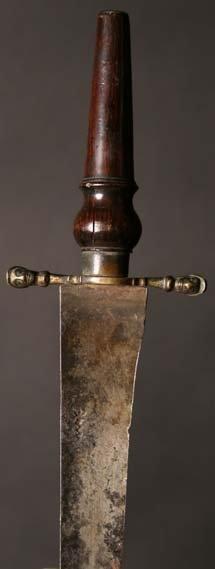 20: An English 17th Century Plug Bayonet with gilt bron