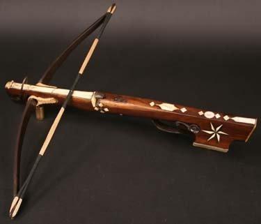 23: A Small German Hunting Crossbow Circa 1700. inlaid