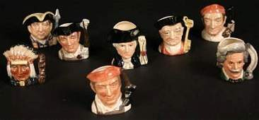 377 A Collection of Eight Royal Doulton Miniature Char
